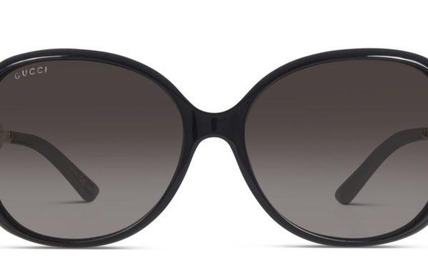 Gucci GG0076S Shiny Black w/Gold
